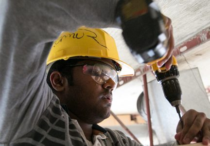 RSTA Carpentry Students Apply Skills at Foundry Building