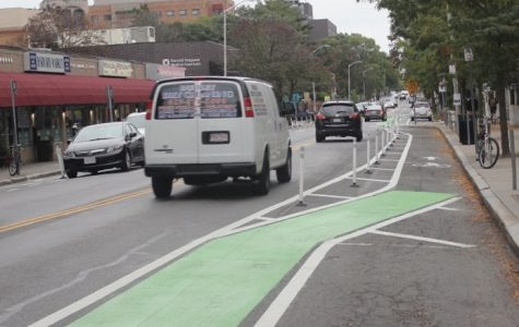 Pictured: The protected bike lane on Cambridge Street.