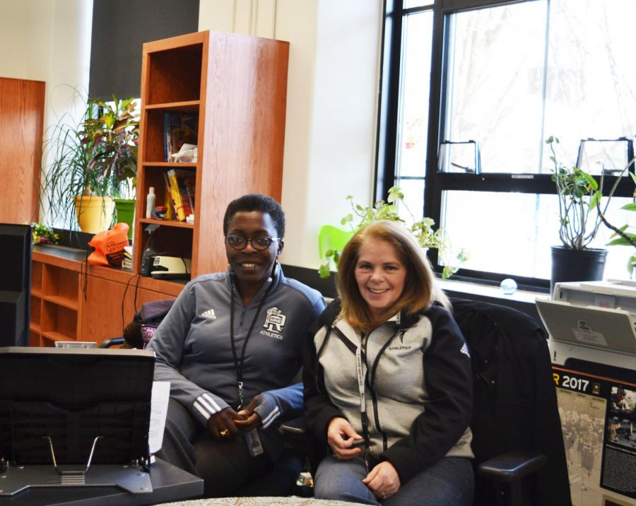 Yemisi Oluwole (left) has been at Rindge for four years, Sandy Stone (right) for three.