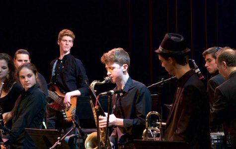 Pictured: Junior Martino Boni-Beadle, who plays saxophone in the World Jazz Ensemble.