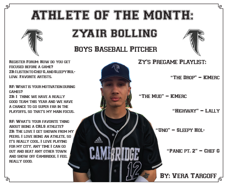 Athlete of the Month: Zyair Bolling