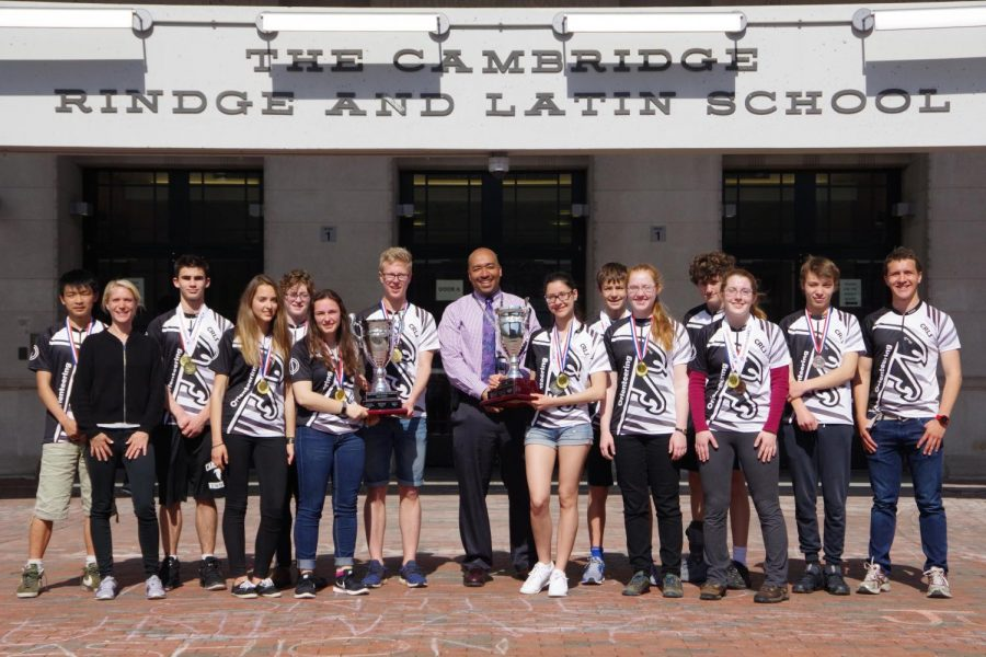 Eight Rindge students from the orienteering team placed nationally in the U.S. Junior National Championships in April 2018.