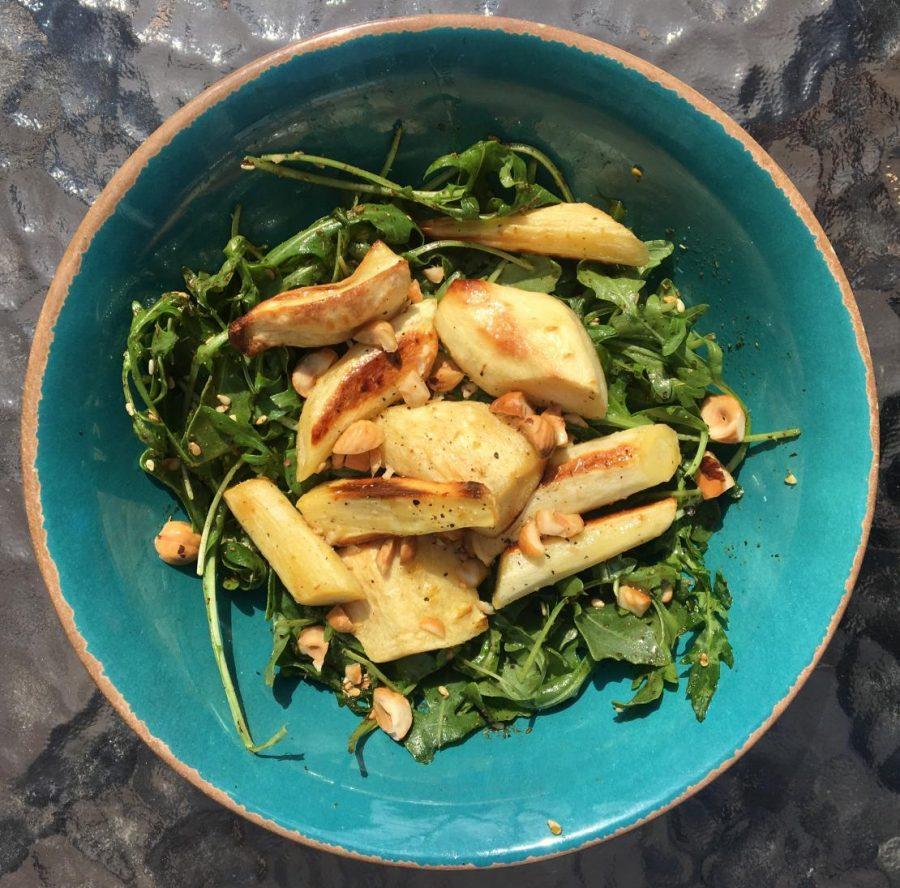 Parsnips with Hazelnuts