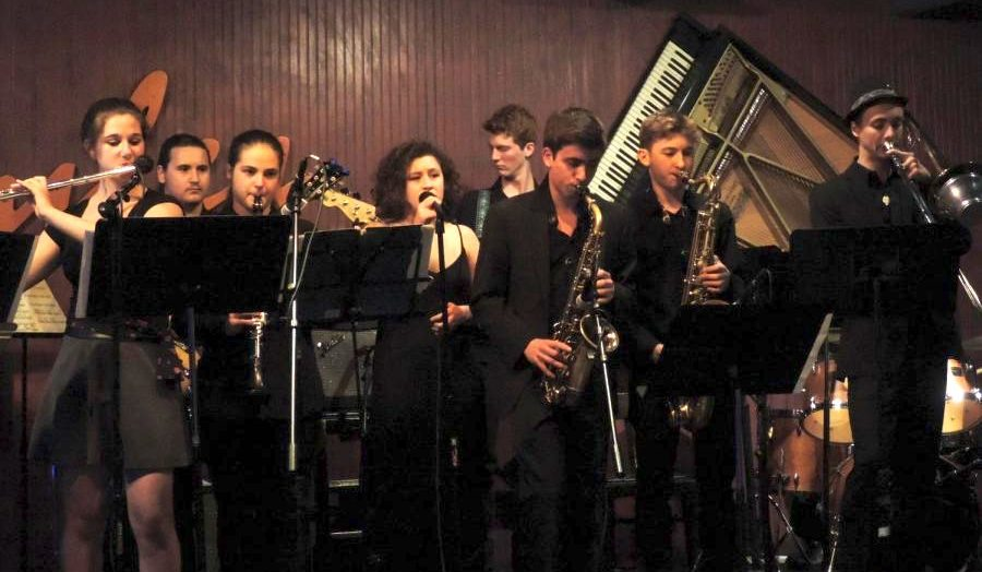 Pictured: CRLS World Jazz/Big Band performing for the last time at Ryles before the venue closes.