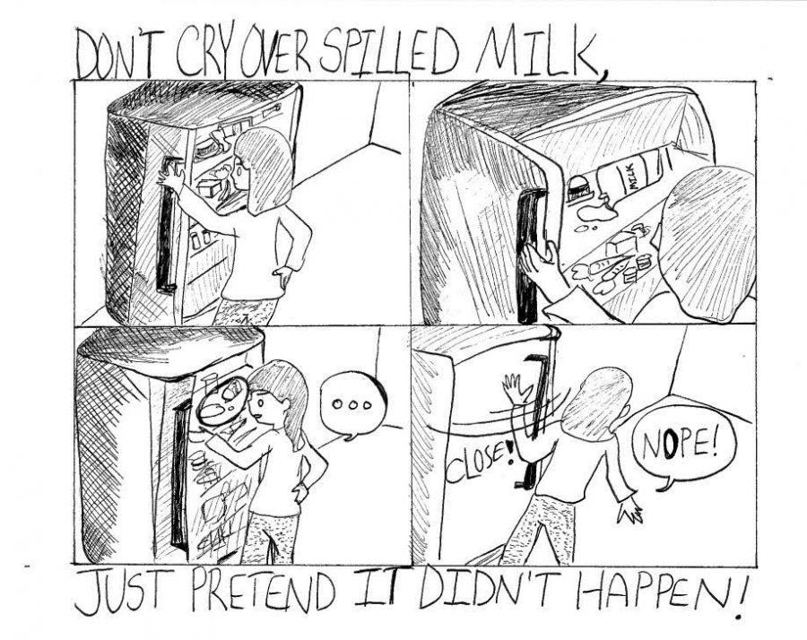 Spilled Milk Cartoon