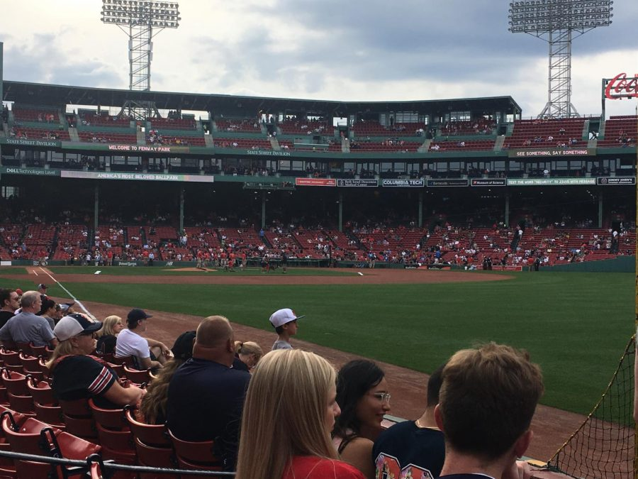 Fenway Park is the home to the Boston Red Sox.