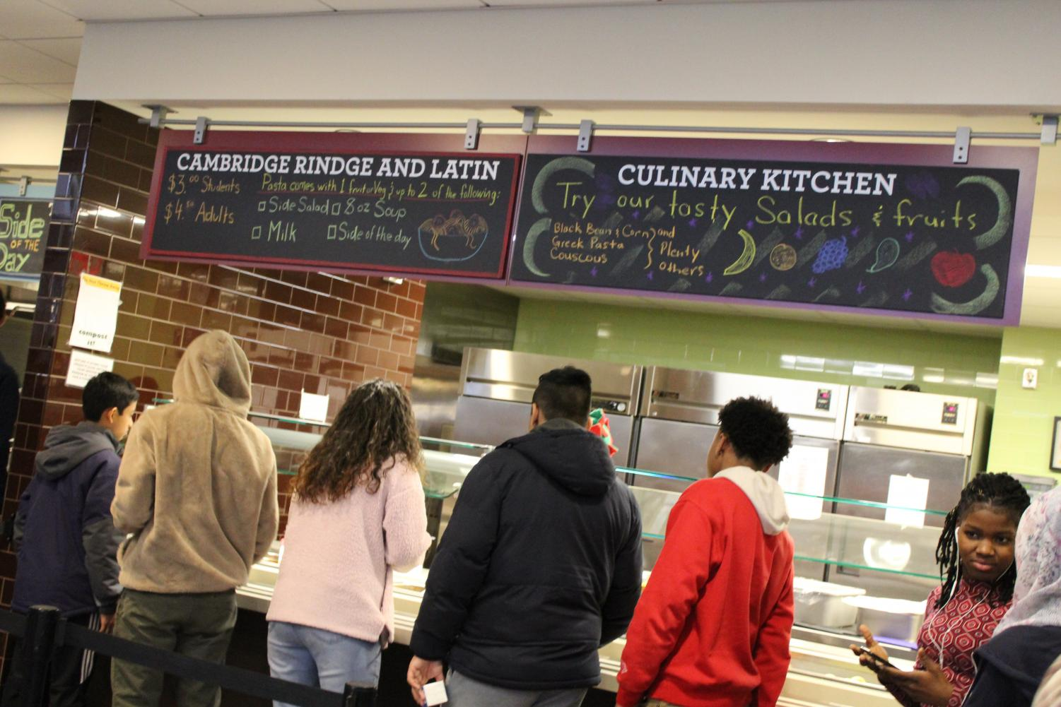 CRLS has two different cafeterias available for students: the Main Cafeteria and the Media Cafe.