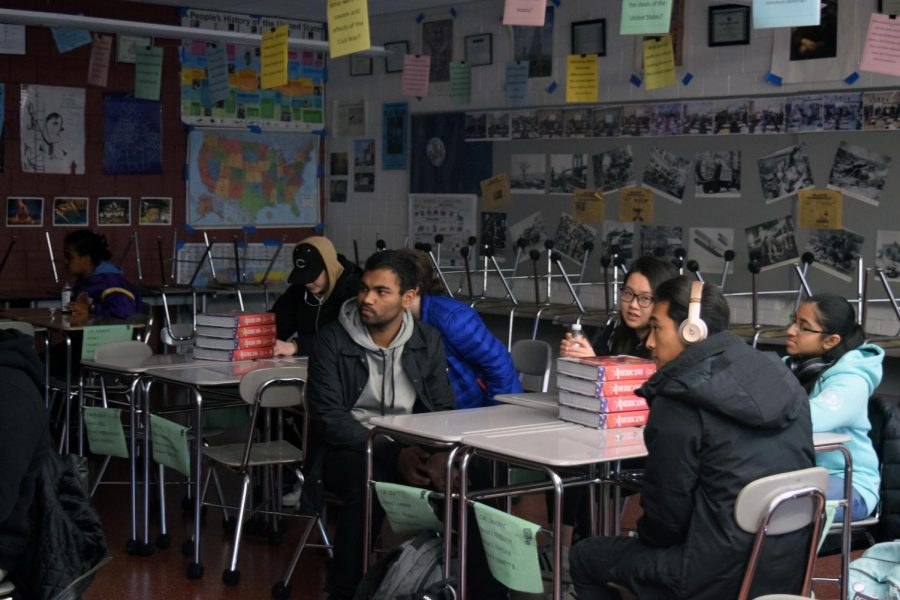 Students listen in on the X-Block conversation in CM on December 13th.