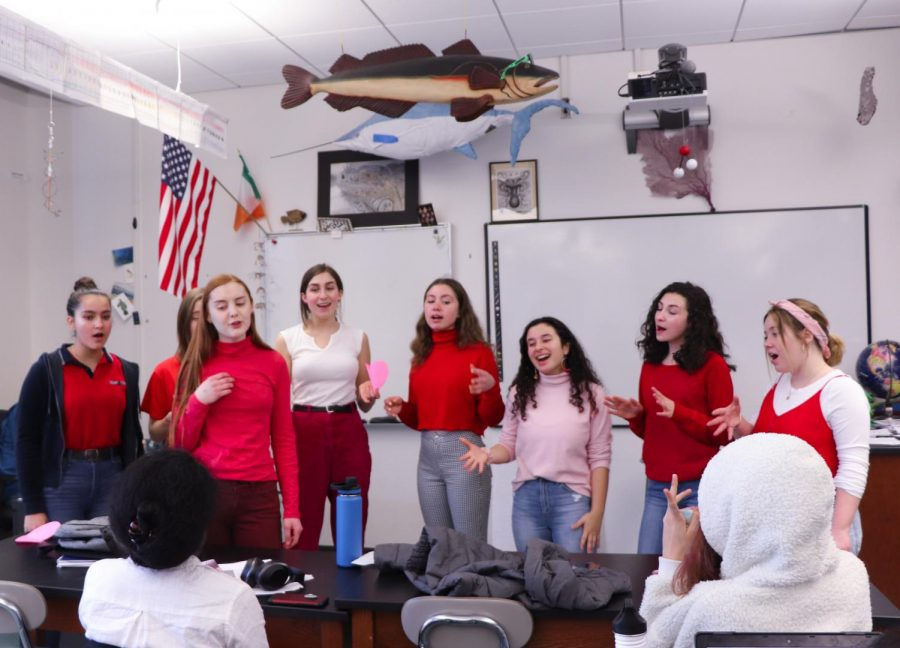 Five a capella groups delivered Singing Valentines on February 14th, 2019.