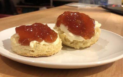 Serve these British scones with dollops of cream and jam.