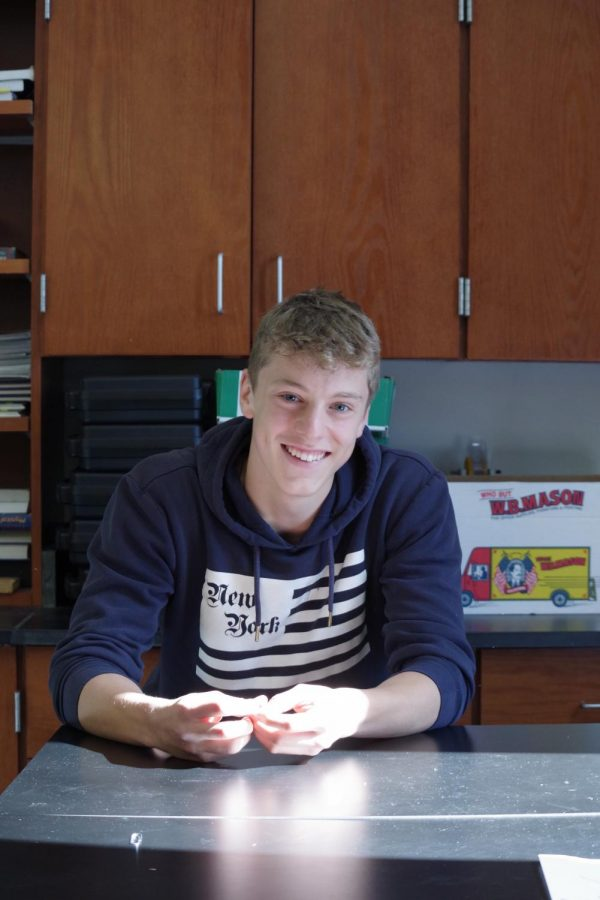Franz Tiefenbacher '21 is an exchange student from Germany