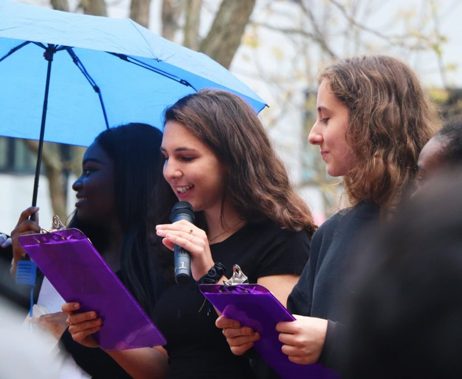 Senior Gilli Danenberg organized the first annual sexual assault walkout.