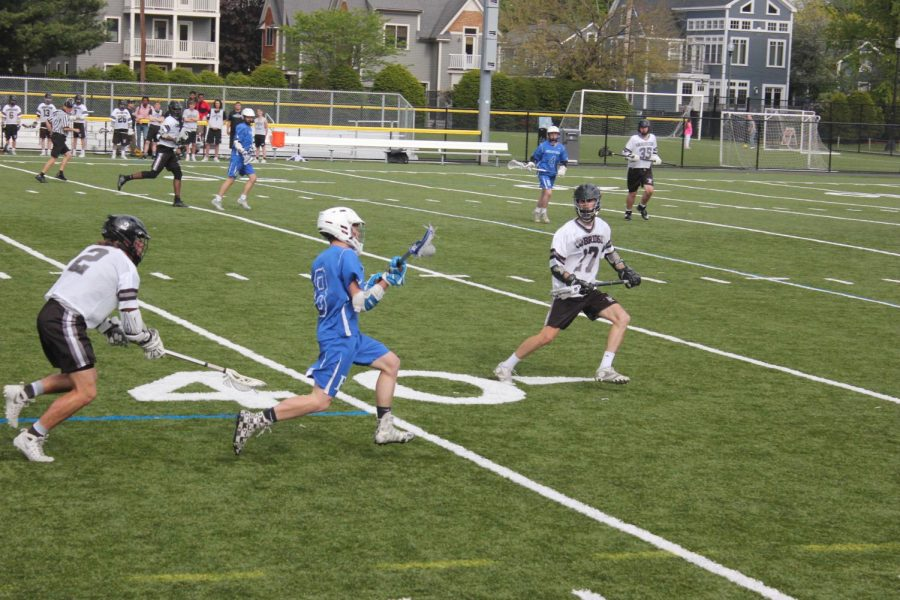 The Boys Varsity Lacrosse team started the season off with a five game winning streak. The secret to their success? Dedication. Coach Thomas Goldman holds 8:30 a.m. practices on Saturdays and has strict attendance requirements. Students say it brings together the team as a whole.