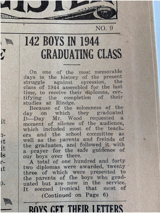 Blast From the Past: June 1944
