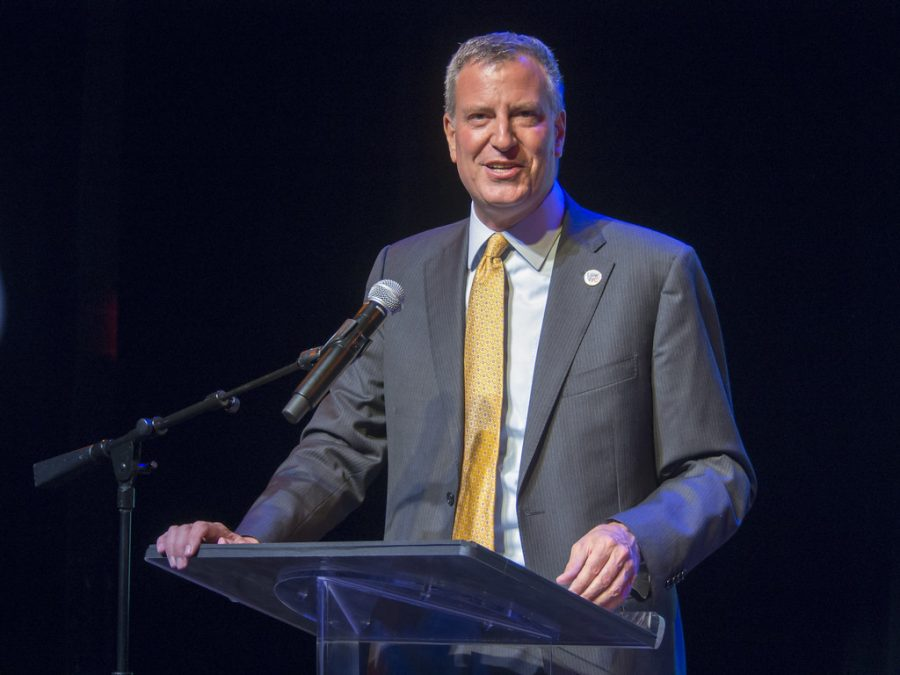 Mayor Bill de Blasio' 79 grew up in Cambridge and attended CRLS.