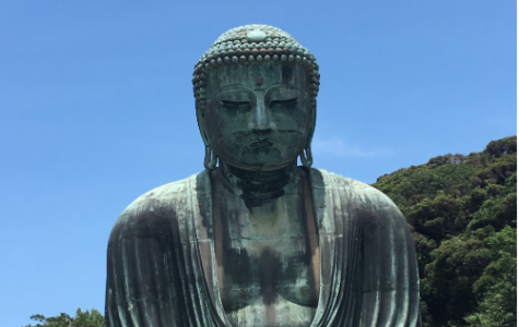 Pictured: The Great Buddha of Kamakura in Japan.