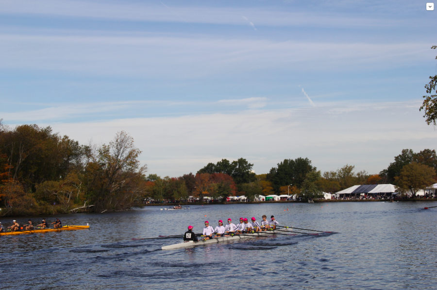 Three boats of CRLS athletes rowed at the Head of the Charles.
