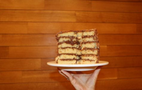 Birthday Cake: Yellow Cake with Chocolate Frosting