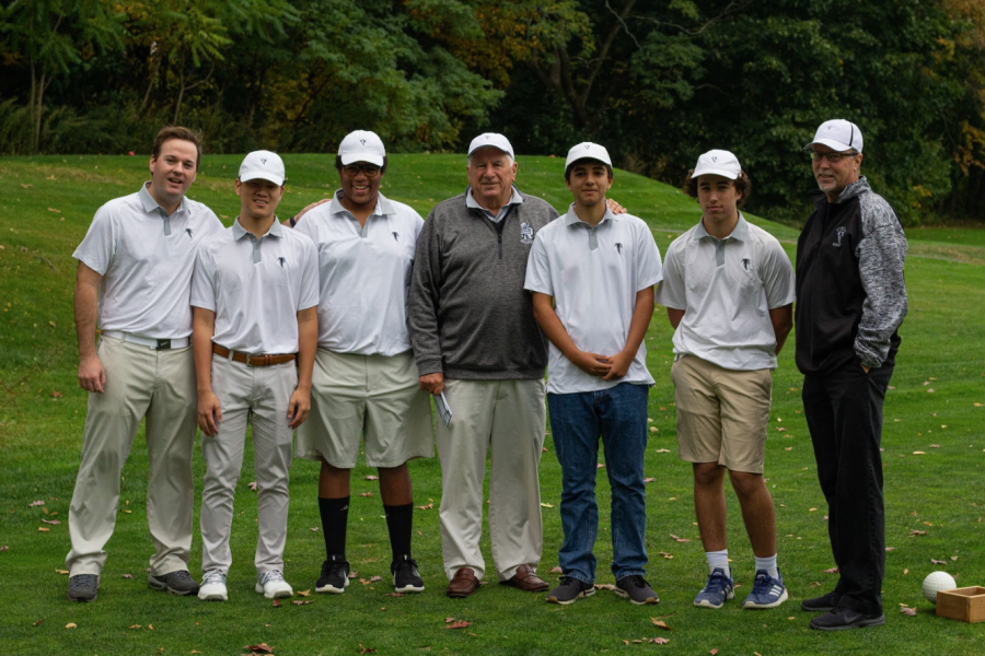 The CRLS golf team practices at the Fresh Pond Golf Course.