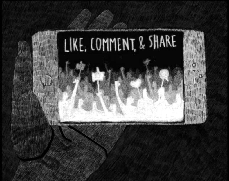 Social+media+has+become+an+outlet+for+people+to+express+that+they+care+about+an+issue.