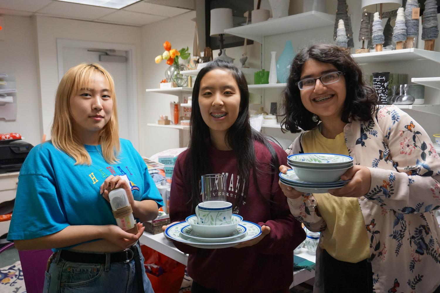 CRLS students volunteer at Furnishing Hope, helping families overcome homelessness.