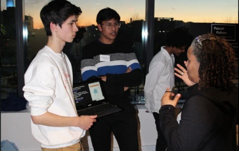 Pictured: Glocal students discussing their projects at the final event.