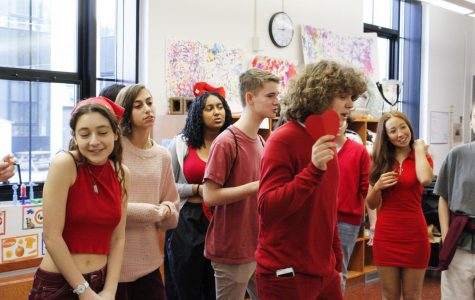 CRLS's many a cappella groups gathered the day before break to serenade classmates in annual tradition.