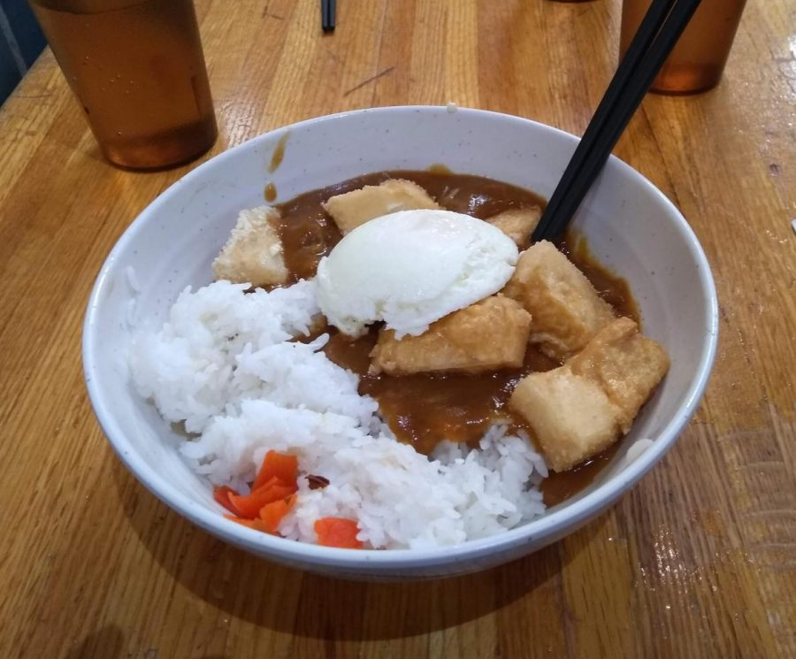 Pictured: Tofu curry from Tampoco.