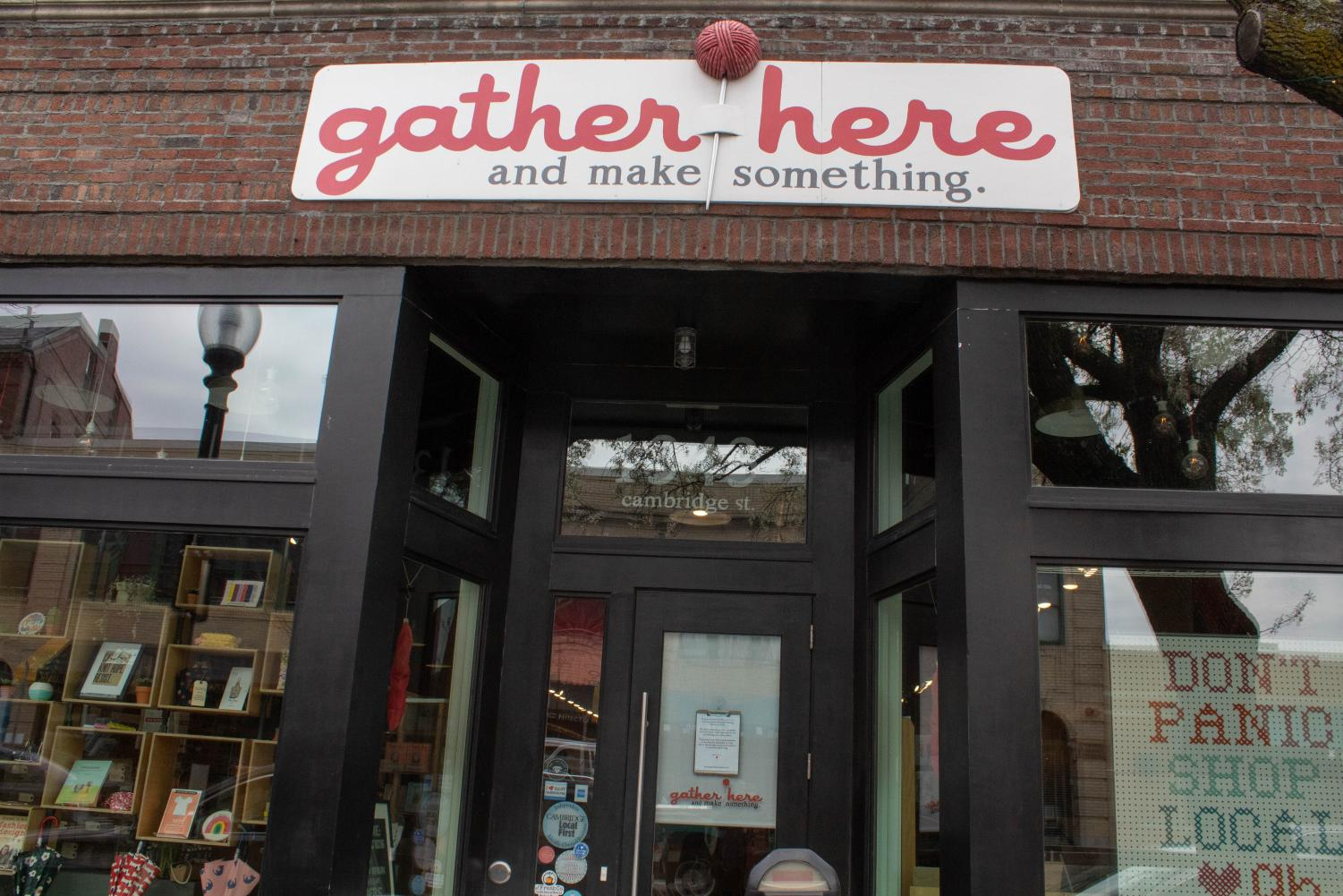 Gather Here is collecting homemade mask to donate to the Cambridge Health Alliance.