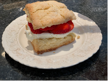 Vanilla Scones (Turned Strawberry Shortcake)
