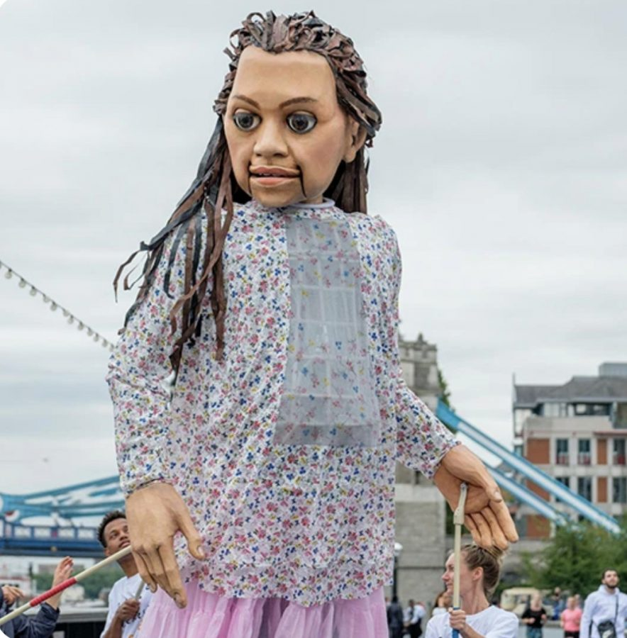 Little Amal: The 11.5 foot puppet.